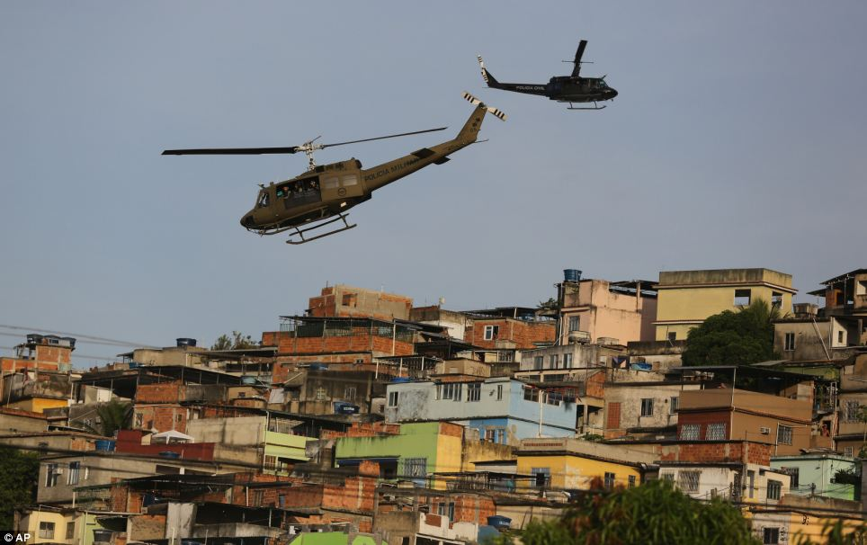 Brazilian police in the slums 5