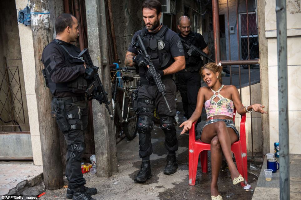 Brazilian police in the slums