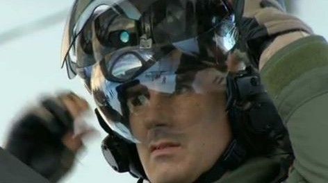 F35 Fighter Jet helmet allows the pilot to view augmented footage.