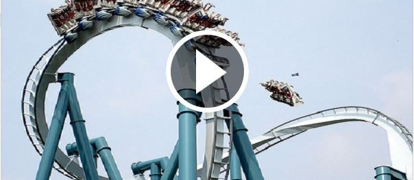 OMG An accident on Roller Coaster in Disneyland Paris