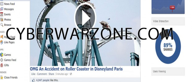 OMG An accident on Roller Coaster in Disneyland Paris facebook page