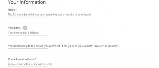 how to request google to remove a search result