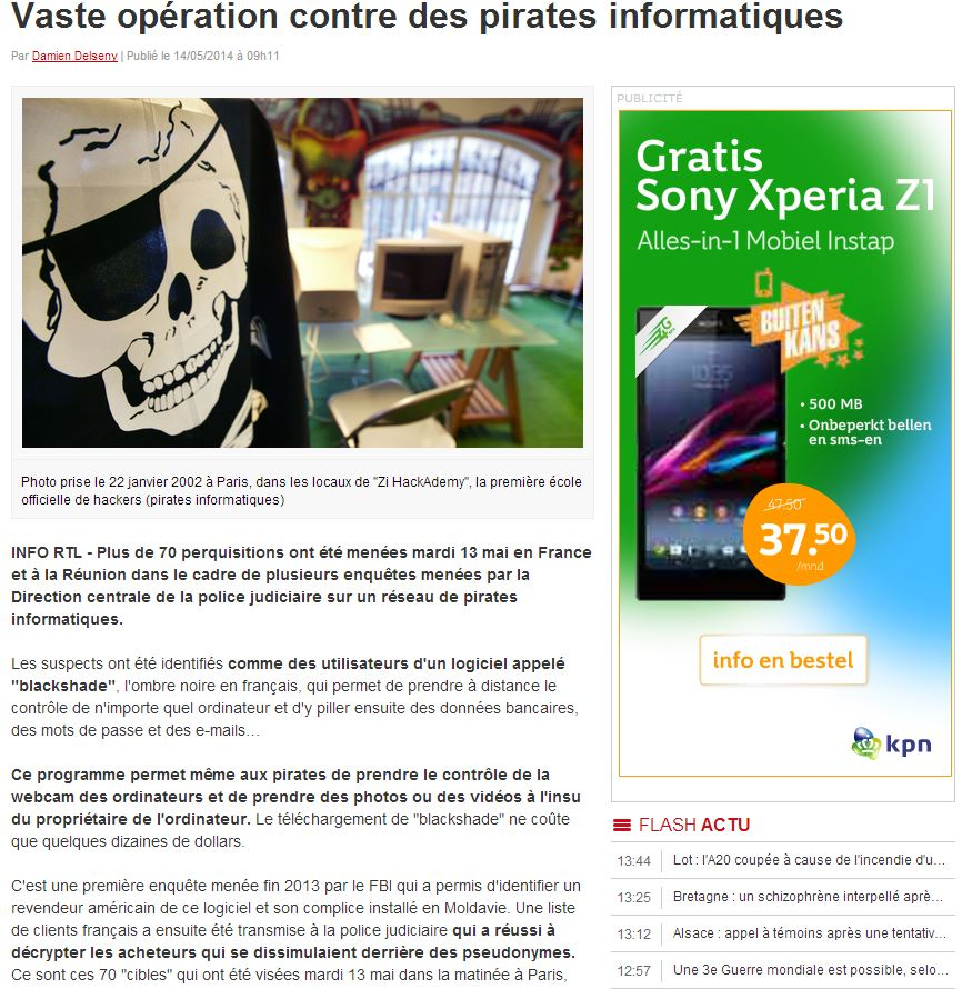 French article on the raid