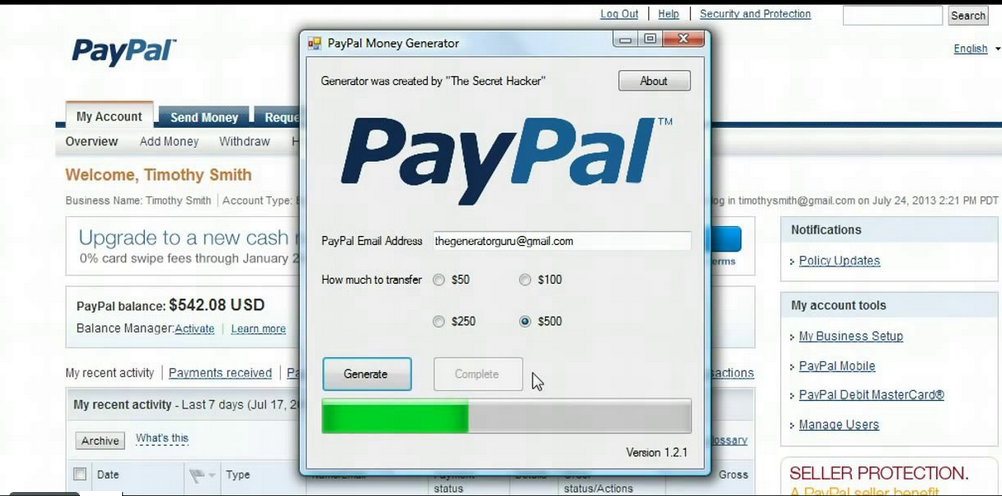 Exclusive: PayPal money hacking software | Cyberwarzone