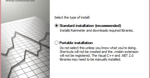 Select the type of installation