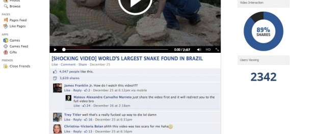 [Shocking video] World's Largest Snake Found in Brazil virus website