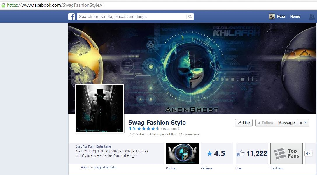 Anonghost Hacks 12k Followers Of The Swag Fashion Style Facebook Page Cyberwarzone