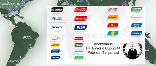 anonymous fifa world cup 2014 potential target list