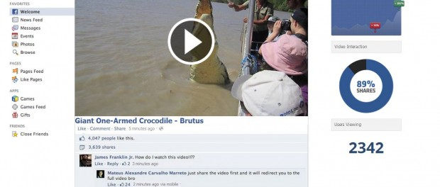 giant one-armed crocodile brutus video virus website