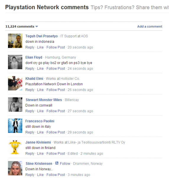 Playstation down