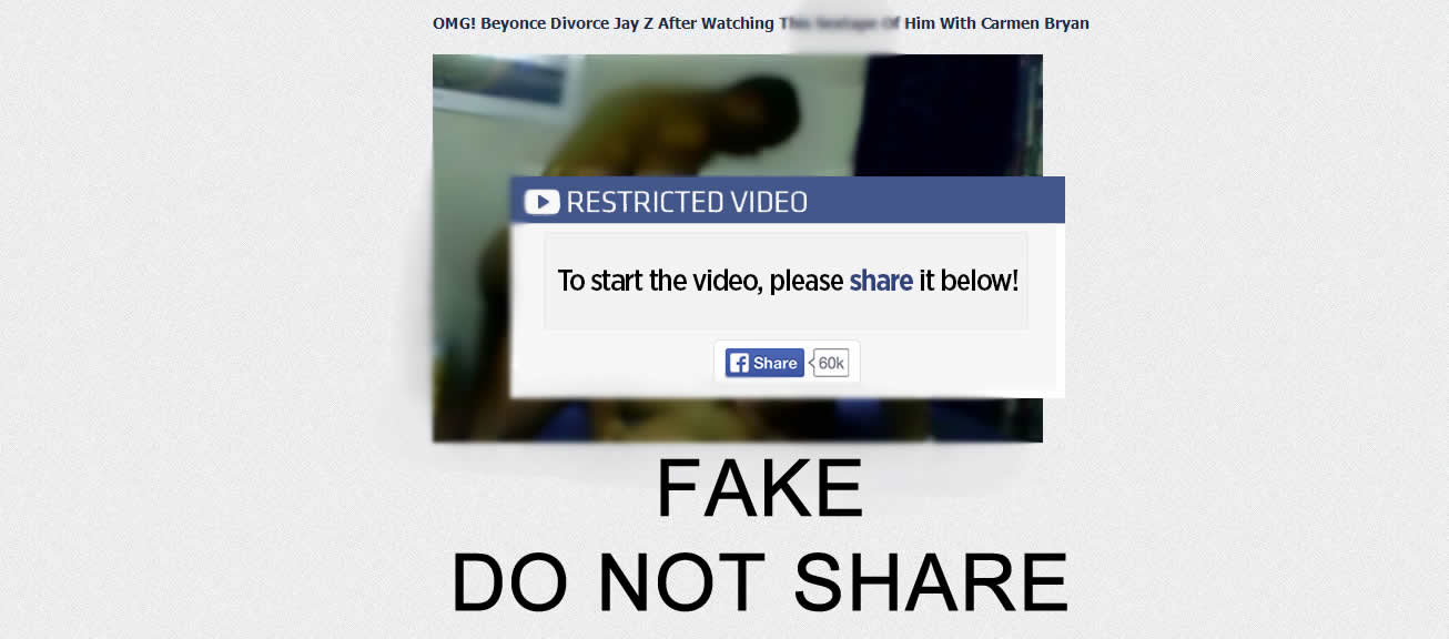 do not share fake beyonce jay z video
