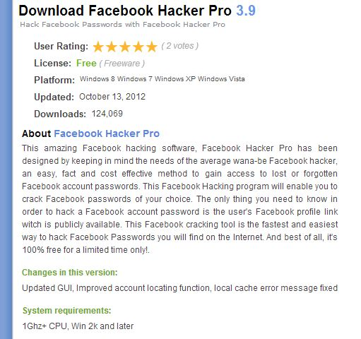 The best Facebook hacking softwares on the internet