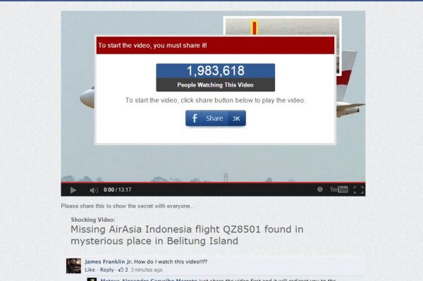 Beware Of The Fake Airasia Qz8501 Videos Which Are Being