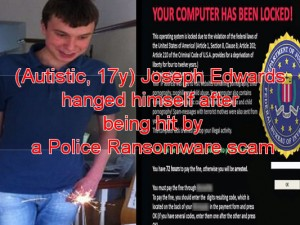 police ransomware killed death