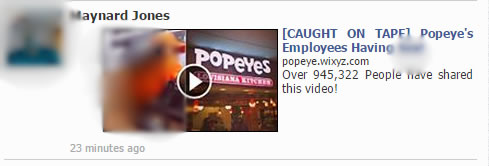 popeyes scam on facebook