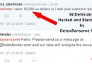 Detox Ransome the hacker which hacked BitDefender and stole BitDefender customer data