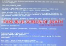 Scammers trick users with fake Blue Screen of Death