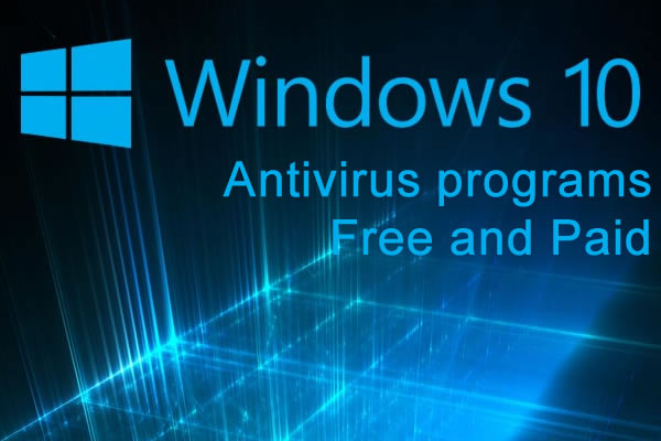 windows 10 antivirus programs