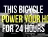 bicycle power home
