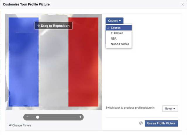 Facebook scam: French Flag colors on Facebook virus - Cyberwarzone