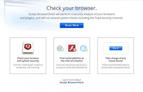 Qualys browser check – Verify That Your Browser Is Secure Within 1ms (NO INSTALL NEEDED)