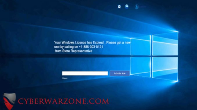 Fake Windows Activation is actually a ransomware Trojan