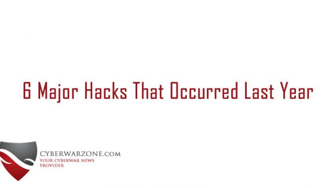6 Major Hacks That Occurred Last Year