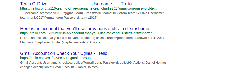 Stop using Trello as a password manager (how to get people's